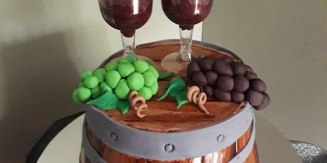 Cake Decorating: wine barrel tickets