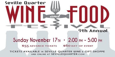 Seville Quarter's 9th Annual Wine & Food Festival