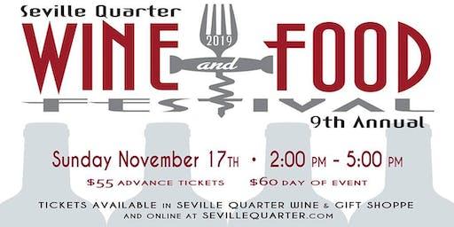 Seville Quarter's 9th Annual Wine & Food Festival