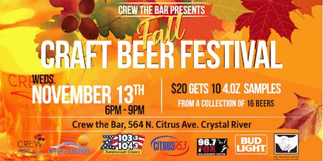 Crew Fall Craft Beer Festival tickets