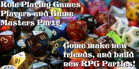 Role Playing Game GM and Player Party! tickets