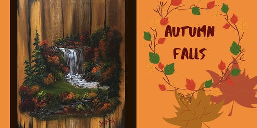 Bob Ross Painting Class:  Autumn Falls
