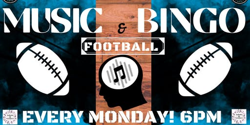 SEABROOKS' MONDAY MUSIC BINGO & FOOTBALL. G.O.A.T. MUSIC,LARGE PRIZES,FREE FUN.