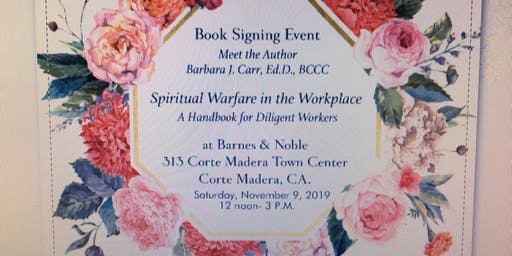 Book signing event    -                                                                                                                                       Dr. Barbara Carr