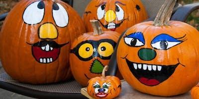 October Fun Day # 2 - Painting Pumpkin Faces