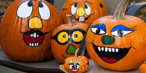 October Fun Day # 2 - Painting Pumpkin Faces