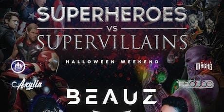 Superheroes vs Supervillains with BEAUZ by Subtle Asian Party 11/02/SAT tickets