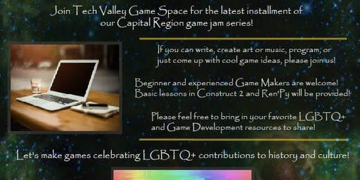 TVGS #include LGBTQ+ Game Jam 2019!
