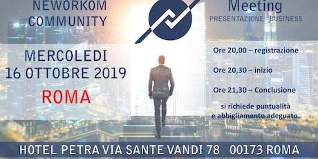 Presentazione Business Neworkom biglietti