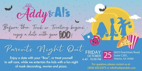 "Addy & Al's POP UP-Parents ""Boo"" Night Out tickets"