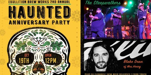 Ebullition Brew Works Haunted Anniversary Party With San Diego Music Award Nominees The Sleepwalkers, Blake Dean, and DJ Claud9