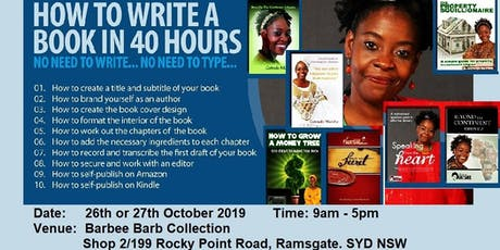 How to write a book in 40 Hours tickets