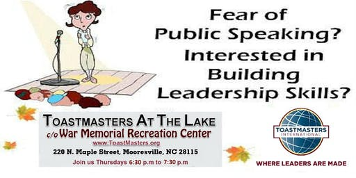 Sharpen Your Public Speaking & Leadership Skills!