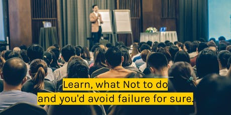 What NOT to do in Startup & Business tickets