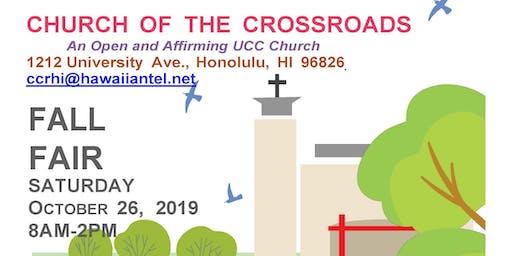 Church of the Crossroads Fall Fair Oct 26