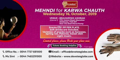 Mehndi for Karva Chauth (Centre 1) tickets
