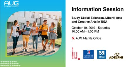 Study SOCIAL SCIENCES, LIBERAL ARTS, and CREATIVE ARTS in the USA tickets