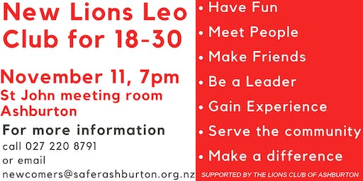 Lions Omega Leo club in Ashburton