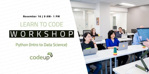 Learn to Code workshop - Python (Intro to Data Science)
