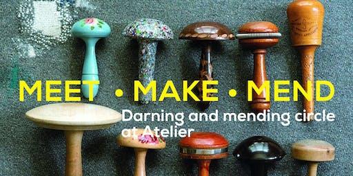 October MEET•MAKE•MEND Visible Mending Circle at Atelier