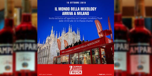Campari Academy Truck ★ Free Drink in Piazza Duomo ✆ 3355290025