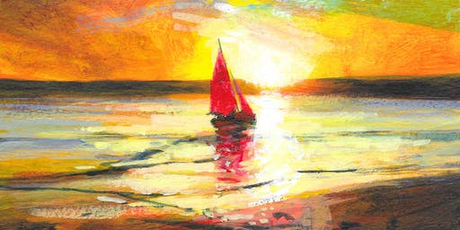 Autumn - The Red Sail  in Watercolour  with Glyn Macey and Winsor & Newton