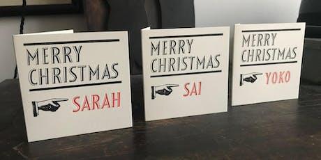 The Printer's Devil: Custom Letterpress Christmas Cards tickets