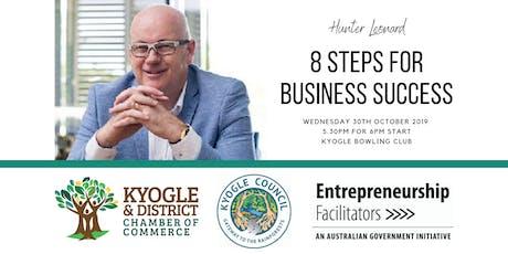 8 Steps for Business Success - Hunter Leonard tickets