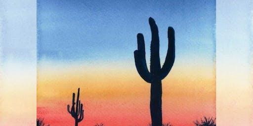 Brew N Brush: Desert Dusk