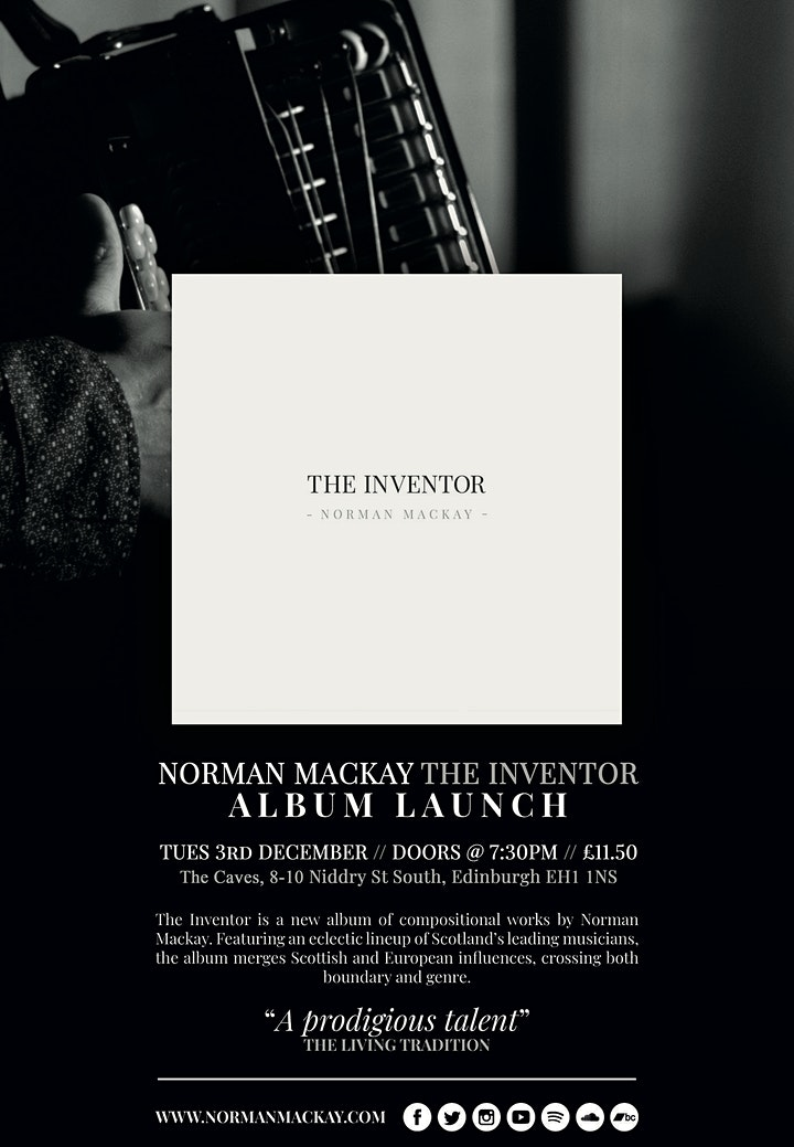 Norman Mackay - The Inventor  (Album Launch) image