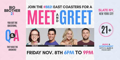 Big Brother 21 Meet and Greet in NYC tickets
