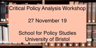 Critical Policy Analysis Workshop