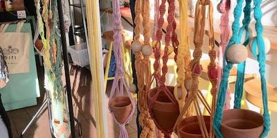 Macrame Plant Hangers Workshop at Crafty Praxis