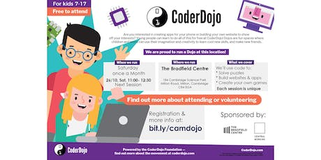 FREE CoderDojo: kids 7-17 learn to code tickets
