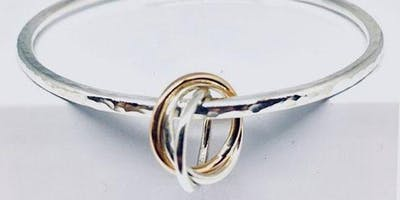 Personalised silver bangle and 9ct gold charm workshop