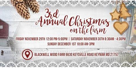 3rd Annual Christmas on the Farm tickets