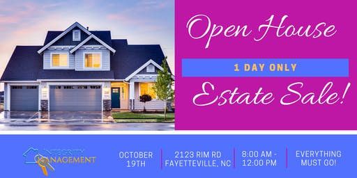 5 BR Open House - Estate Sale!