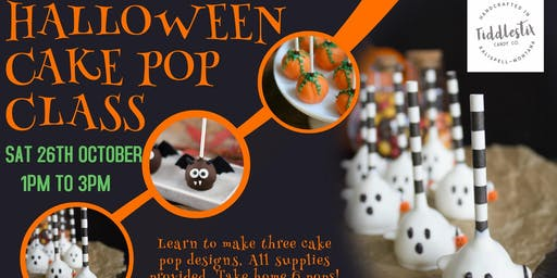 Halloween Cake Pop Class at Fiddlestix