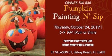 Pumpkin Painting N' Sip tickets