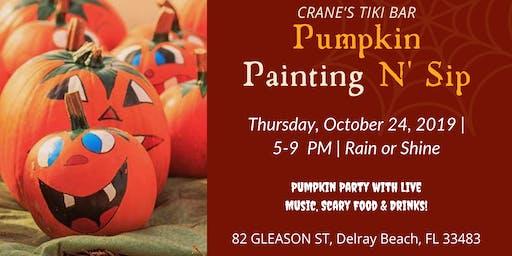 Pumpkin Painting N' Sip