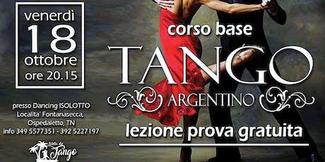 TANGO ARGENTINO - corso base - LEZIONE DI PROVA GRATUITA biglietti