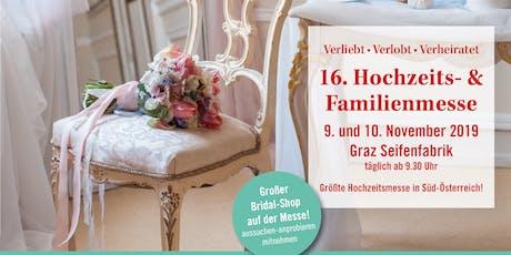 """16. Hochzeits- & Familienmesse """"Verliebt Verlobt Verheiratet"""" Tickets"""