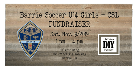Barrie Soccer U14 Girls - CSL - Fundraiser. tickets