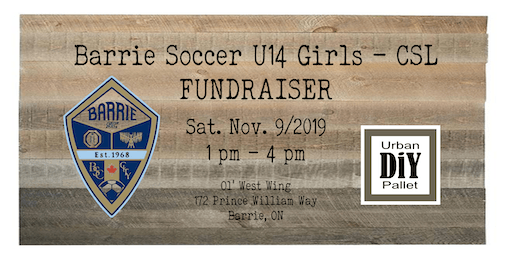 Barrie Soccer U14 Girls - CSL - Fundraiser.