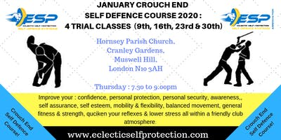 JANUARY CROUCH END SELF DEFENCE COURSE 2020
