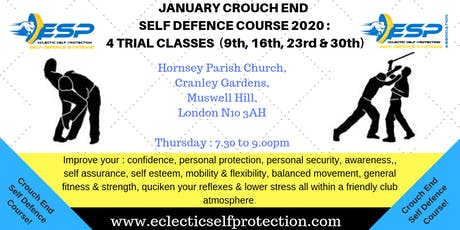 JANUARY CROUCH END SELF DEFENCE COURSE 2020 tickets