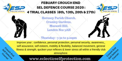 FEBUARY CROUCH END SELF DEFENCE COURSE 2020