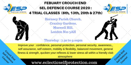 FEBUARY CROUCH END SELF DEFENCE COURSE 2020 tickets