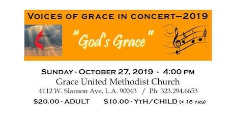 """Voices Of Grace Concert 2019 - """"God's Grace"""" tickets"""