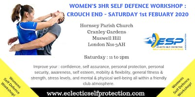 WOMENS FEBUARY CROUCH END SELF DEFENCE WORKSHOP 2020